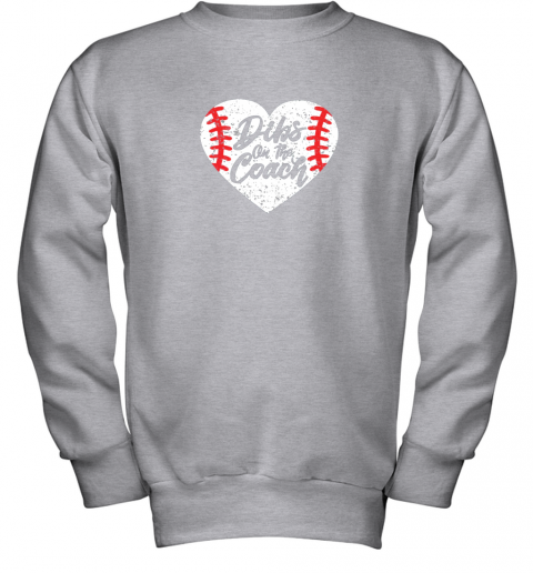 vdw2 dibs on the coach funny baseball youth sweatshirt 47 front sport grey