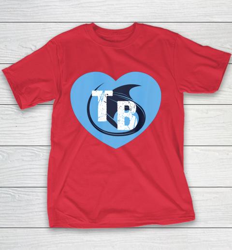 Stingray Love Tampa Bay Vintage TB Cool Tampa Bay Heart Youth T-Shirt 9