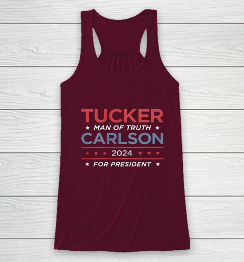 Vote For Tucker Carlson 2024 Presidential Election Campaign Racerback Tank 2