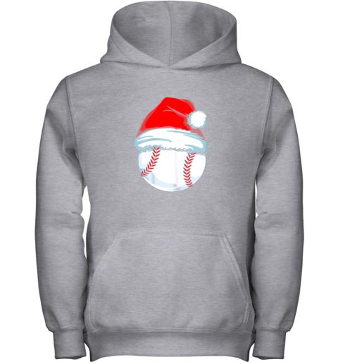 e3vp christmas baseball shirt for kids men ball santa pajama youth hoodie 43 front sport grey