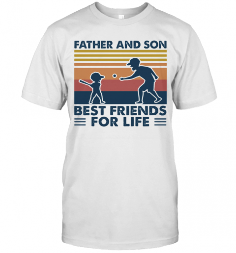Father And Son Best Friends For Life Vintage T-Shirt