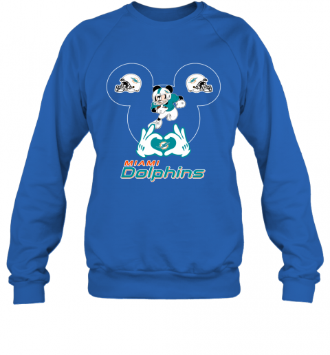 uqpy i love the dolphins mickey mouse miami dolphins sweatshirt 35 front royal