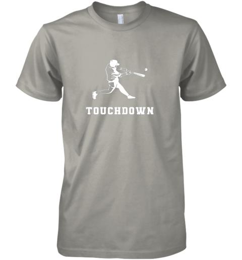ul9u touchdown baseball shirtfunny sarcastic novelty premium guys tee 5 front light grey