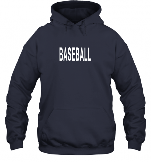 llvz shirt that says baseball hoodie 23 front navy