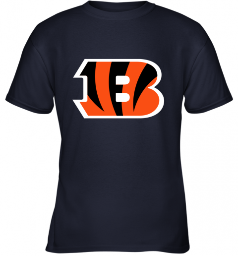 fkj5 cincinnati bengals nfl line gray victory youth t shirt 26 front navy