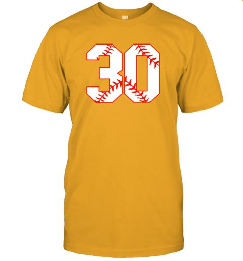 wezu thirtieth birthday party 30th baseball shirt born 1989 jersey t shirt 60 front gold