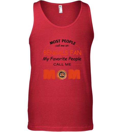 zkua most people call me cincinnati bengals fan football mom unisex tank 17 front red