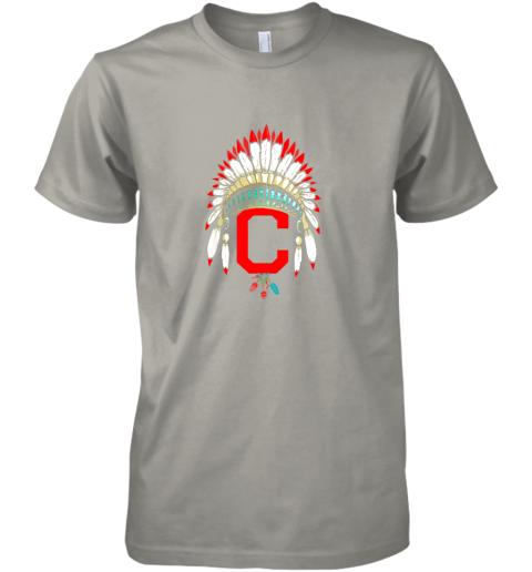 unpk new cleveland hometown indian tribe vintage for baseball premium guys tee 5 front light grey