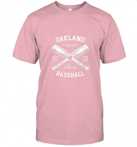 9pqv oakland baseball classic vintage california retro fans gift jersey t shirt 60 front pink