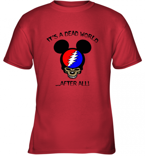 ttyc its a dead world after all disney mickey grateful dead youth t shirt 26 front red