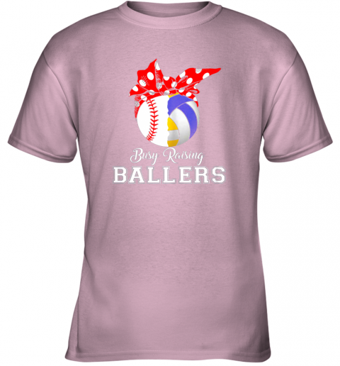 fqml baseball volleyball busy raising ballers shirt mothers day youth t shirt 26 front light pink
