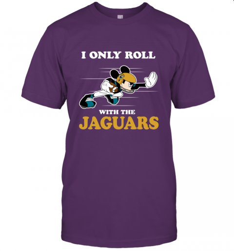 NFL Mickey Mouse I Only Roll With Jacksonville Jaguars Unisex Jersey Tee