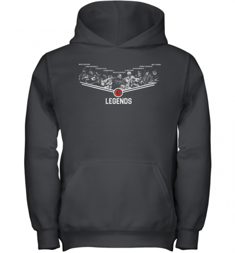 Calgary Flames Legends Team Player Signature Youth Hoodie