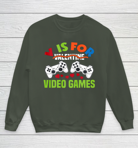 Funny Video Games Lover Valentine Day Youth Sweatshirt 8