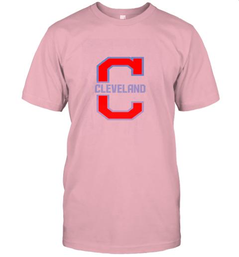 j8zq cleveland hometown indian tribe vintage for baseball fans jersey t shirt 60 front pink