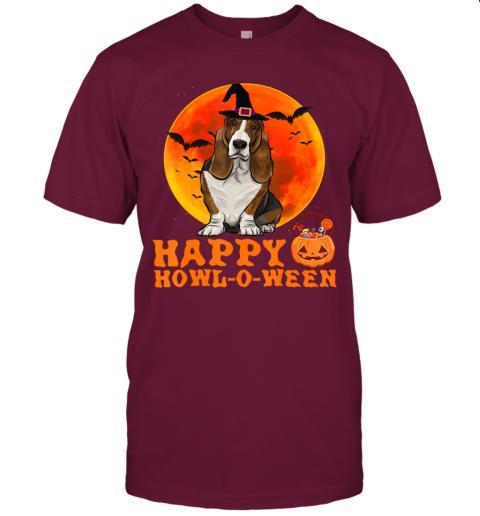 Funny Basset Hound Dog Halloween Happy Howl-o-ween T-Shirt