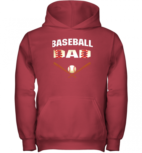 51tj mens baseball dad shirtbest gift idea for fathers youth hoodie 43 front red