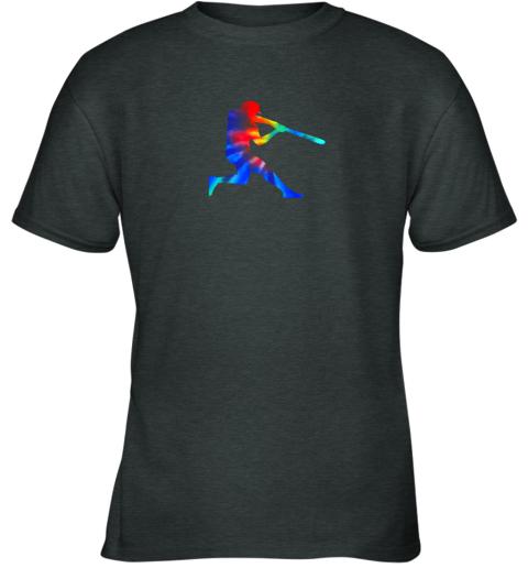 xwzm tie dye baseball batter shirt retro player coach boys gifts youth t shirt 26 front dark heather