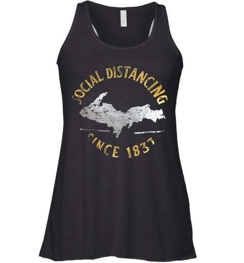 Social Distancing Since 1837 Vintage Racerback Tank