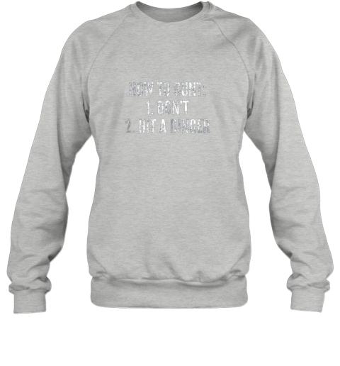 rmzj how to bunt hit a dinger funny baseball player home run fun sweatshirt 35 front sport grey