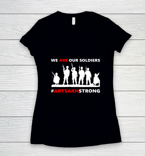 We Are Our Soldiers Women's V-Neck T-Shirt