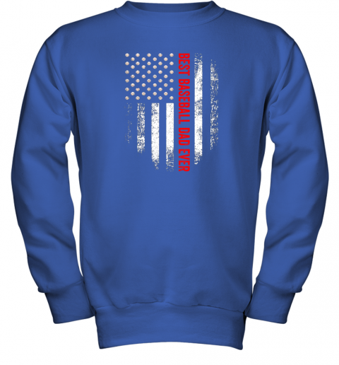 o0yt vintage usa best baseball dad ever american flag daddy gift youth sweatshirt 47 front royal