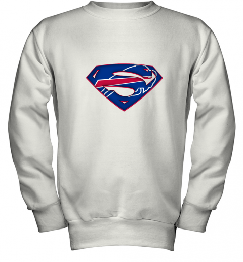 We Are Undefeatable The Buffalo Bills x Superman NFL Youth Sweatshirt