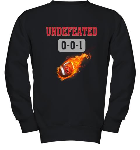 NFL NEW YORK GIANTS LOGO Undefeated Youth Sweatshirt
