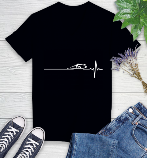 Swimming This Is How My Heart Beats Women's V-Neck T-Shirt