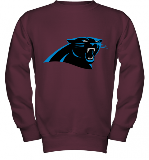 zunv panthers nfl pro line by fanatics branded gray victory youth sweatshirt 47 front maroon