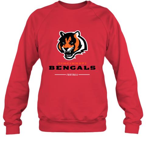 pkng cincinnati cengals nfl pro line black team lockup sweatshirt 35 front red