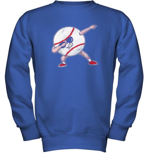 2pwu kids funny dabbing baseball player youth shirt cool gift boy youth sweatshirt 47 front royal