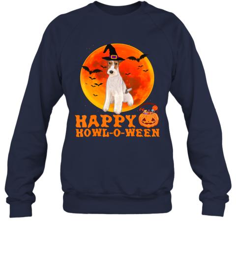 Funny Wire Fox Terrier Dog Halloween Happy Howl-o-ween Sweatshirt