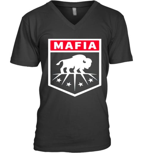 Buffalo Bills Mafia Logo V-Neck T-Shirt