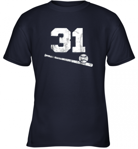 re55 vintage baseball jersey number 31 shirt player number youth t shirt 26 front navy