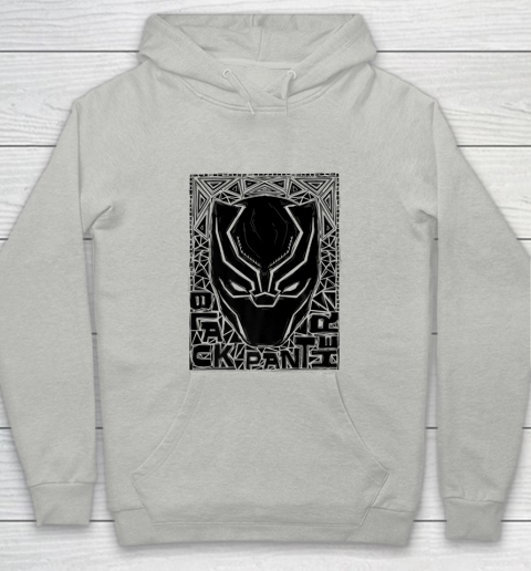 For Fan Black Panther Mask Woodcut Portrait Youth Hoodie 1