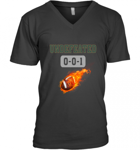 NFL GREEN BAY PACKERS LOGO Undefeated V-Neck T-Shirt