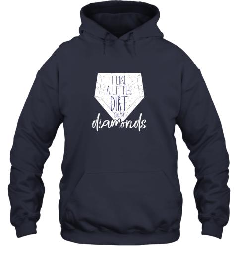 karm i like a little dirt on my diamonds baseball hoodie 23 front navy