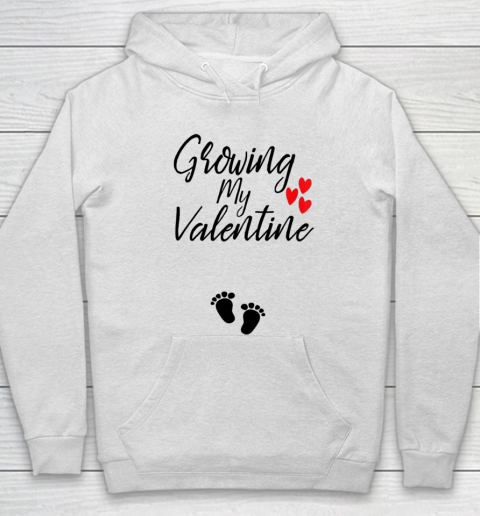 Womens Growing My Valentine Great Family Gift Hoodie