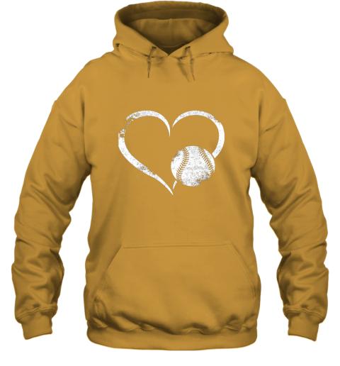 lxql i love baseballl funny baseball lover heartbeat hoodie 23 front gold