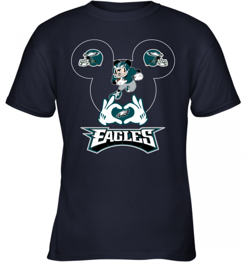 vwqs i love the eagles mickey mouse philadelphia eagles youth t shirt 26 front navy