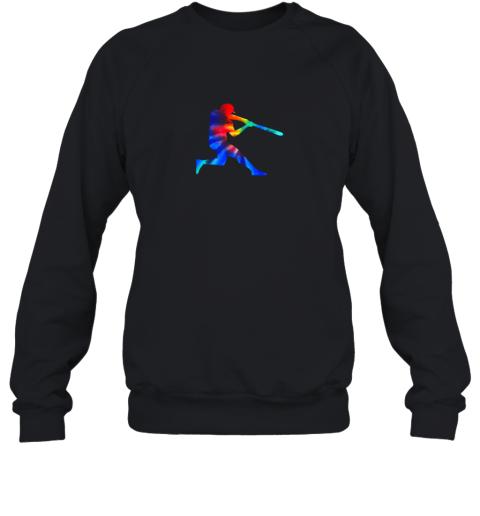 Tie Dye Baseball Batter Shirt Retro Player Coach Boys Gifts Sweatshirt