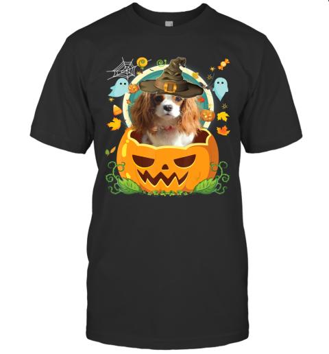 Happy Halloween Pumpkin Cavalier King Charles Spaniel Dog T-Shirt