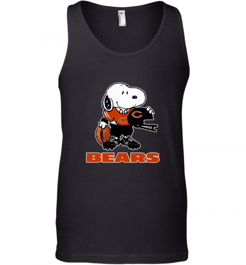 Snoopy A Strong And Proud Chicago Bears Player NFL Tank Top
