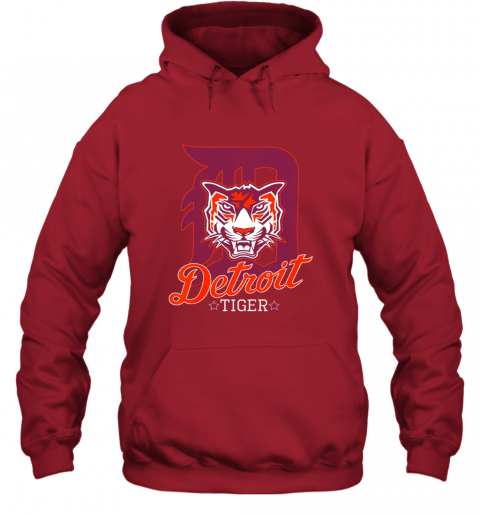 pwkk tiger mascot distressed detroit baseball t shirt new hoodie 23 front red