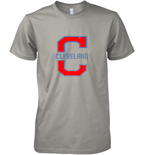 kzt2 cleveland hometown indian tribe vintage premium guys tee 5 front light grey