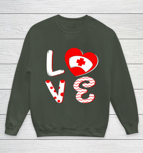 Medical Nurse Valentine Day Shirt Love Matching Youth Sweatshirt 8