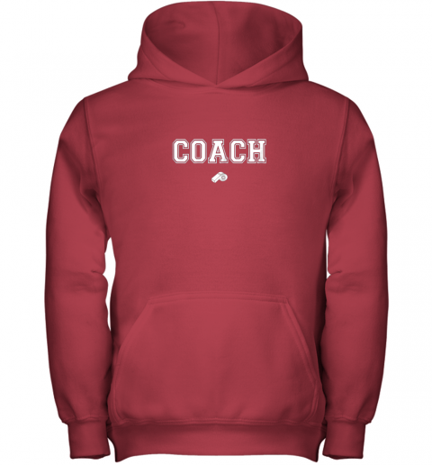 xhnn coach whistle shirt coaching instructor trainer jersey youth hoodie 43 front red
