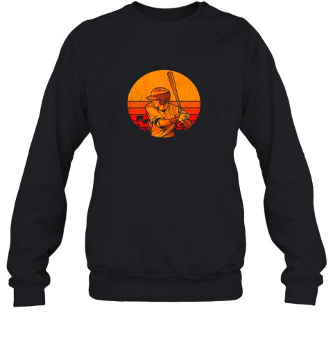 Vintage Baseball Shirt Retro Catcher Pitcher Batter Boys Sweatshirt