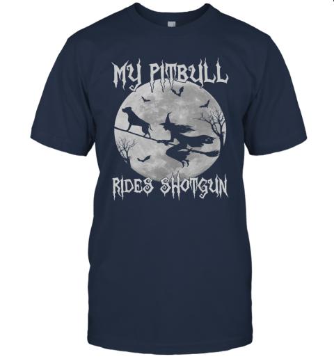 My pitbull Rides Shotgun Halloween pit bull dog lover T-Shirt
